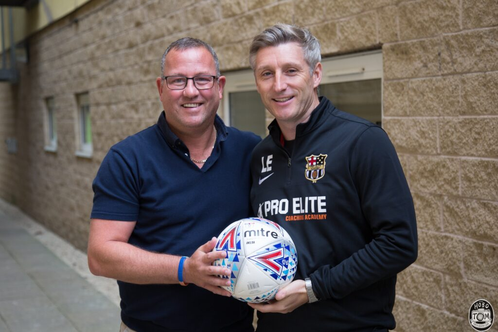 Craig Abbot( Chief scout, Bradford City FC) & Lee Elam (Academy Director, Pro Elite Coaching Academy)